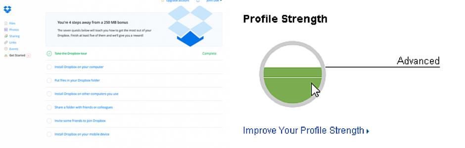 Linkedin et Dropbox utilisent la gamification : ils motivent leurs utilisateurs avec des petits jeux