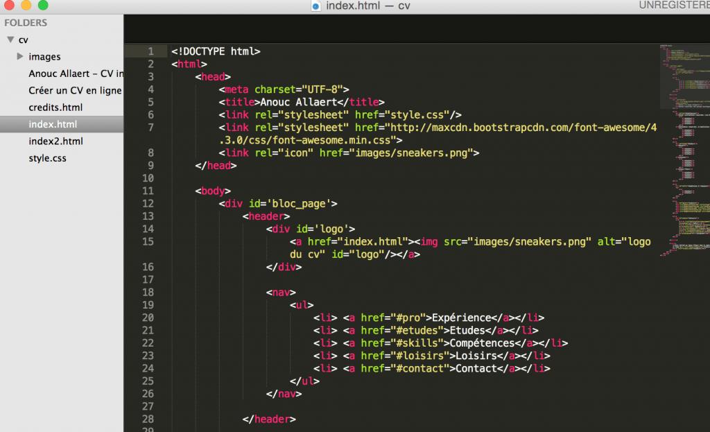 apprendre le html    css et cr u00e9er son propre site web