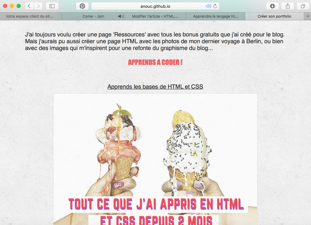 Apprendre le langage html et css en codant ton propre tumblr